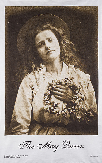 May Queen Julia Margaret Cameron Tea Towel