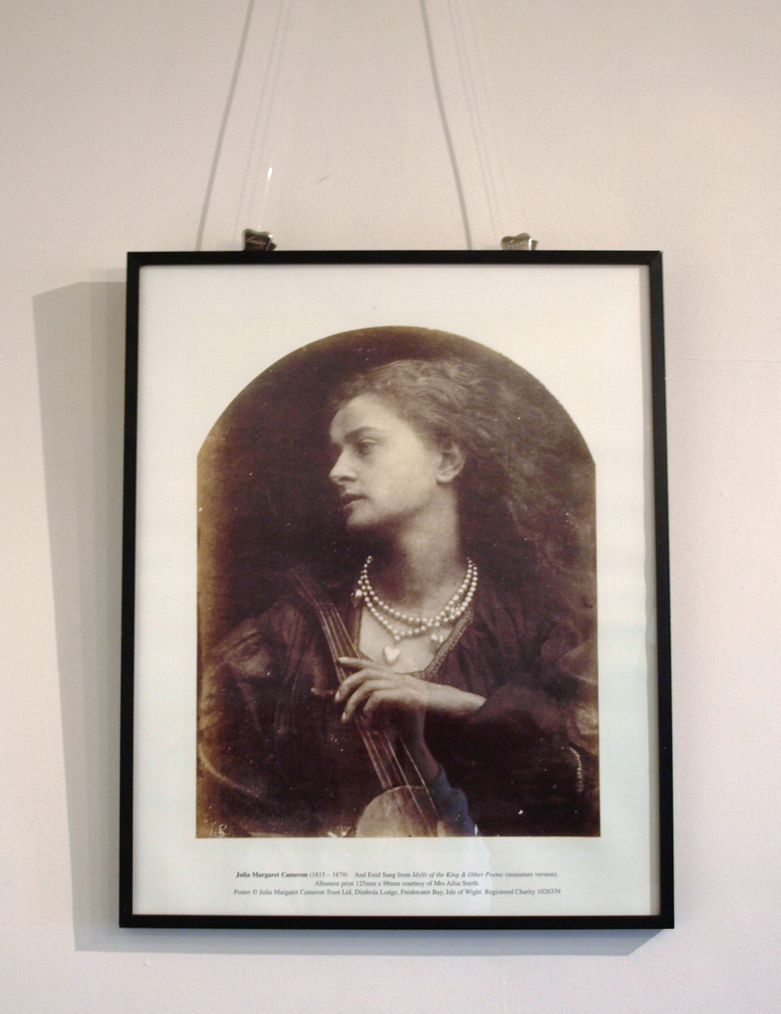 And Enid Sang Poster By Julia Margaret Cameron