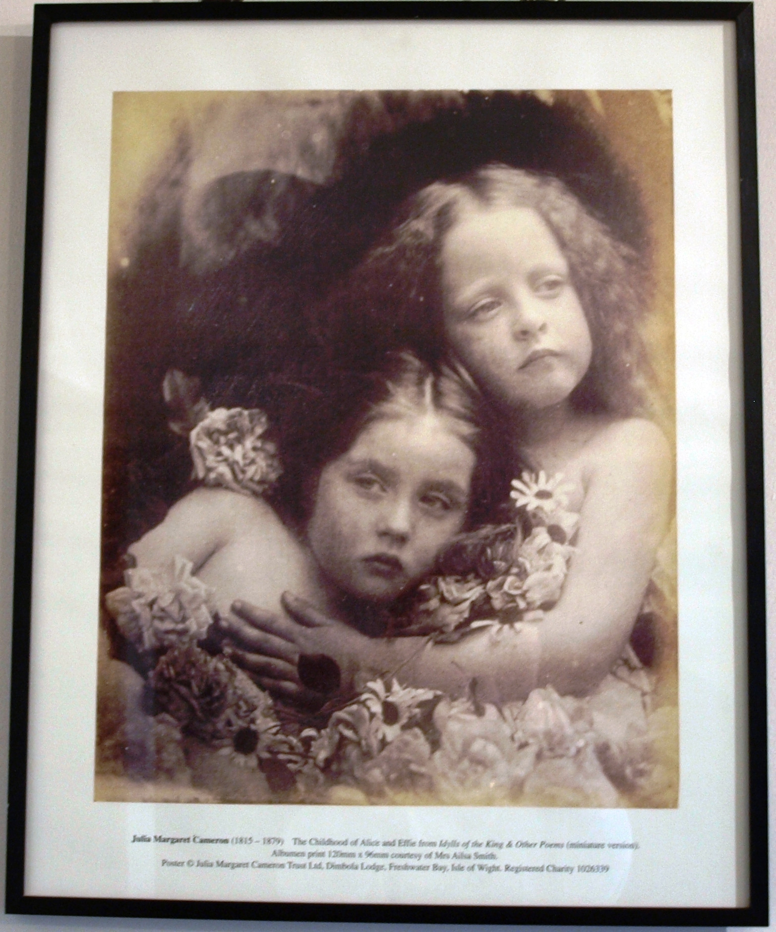 The Childhood Of Alice And Effie Poster By Julia Margaret Cameron